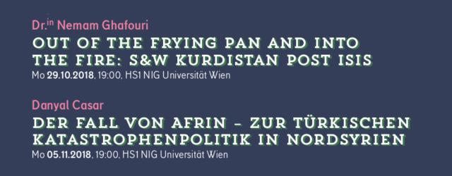 Vortragsreihe zu Afrin 2018 (Flyer)
